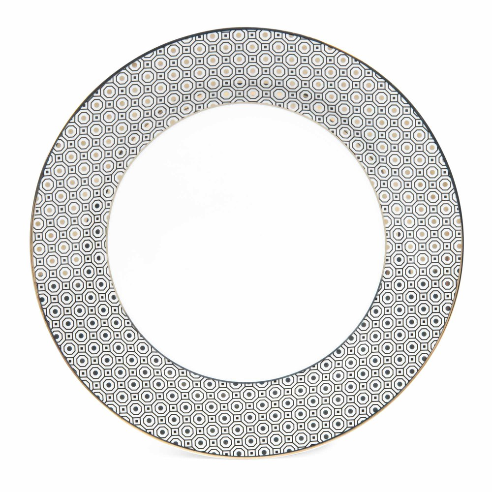 assiette plate en porcelaine d 27 cm kate maisons du monde. Black Bedroom Furniture Sets. Home Design Ideas