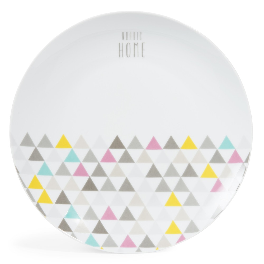 assiette plate en porcelaine d 27 cm nordic home maisons du monde. Black Bedroom Furniture Sets. Home Design Ideas