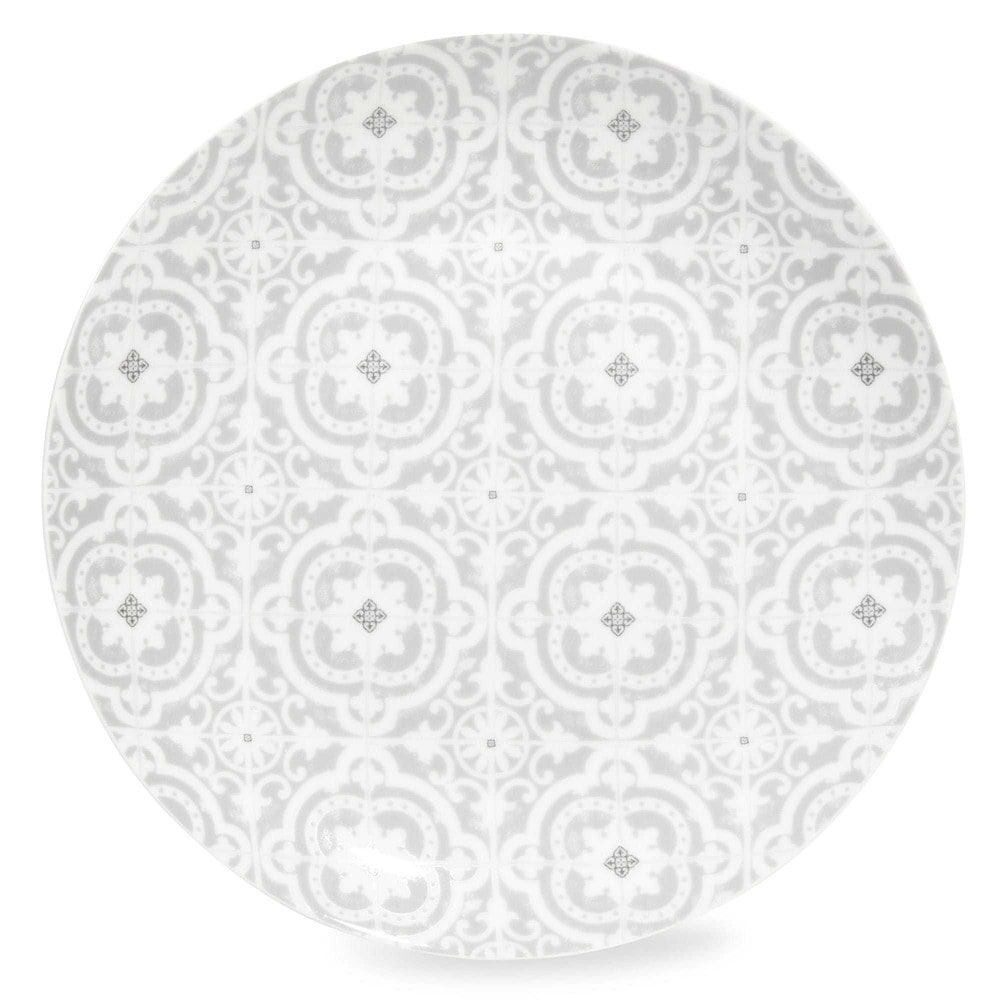 assiette plate en porcelaine grise chambord maisons du monde. Black Bedroom Furniture Sets. Home Design Ideas