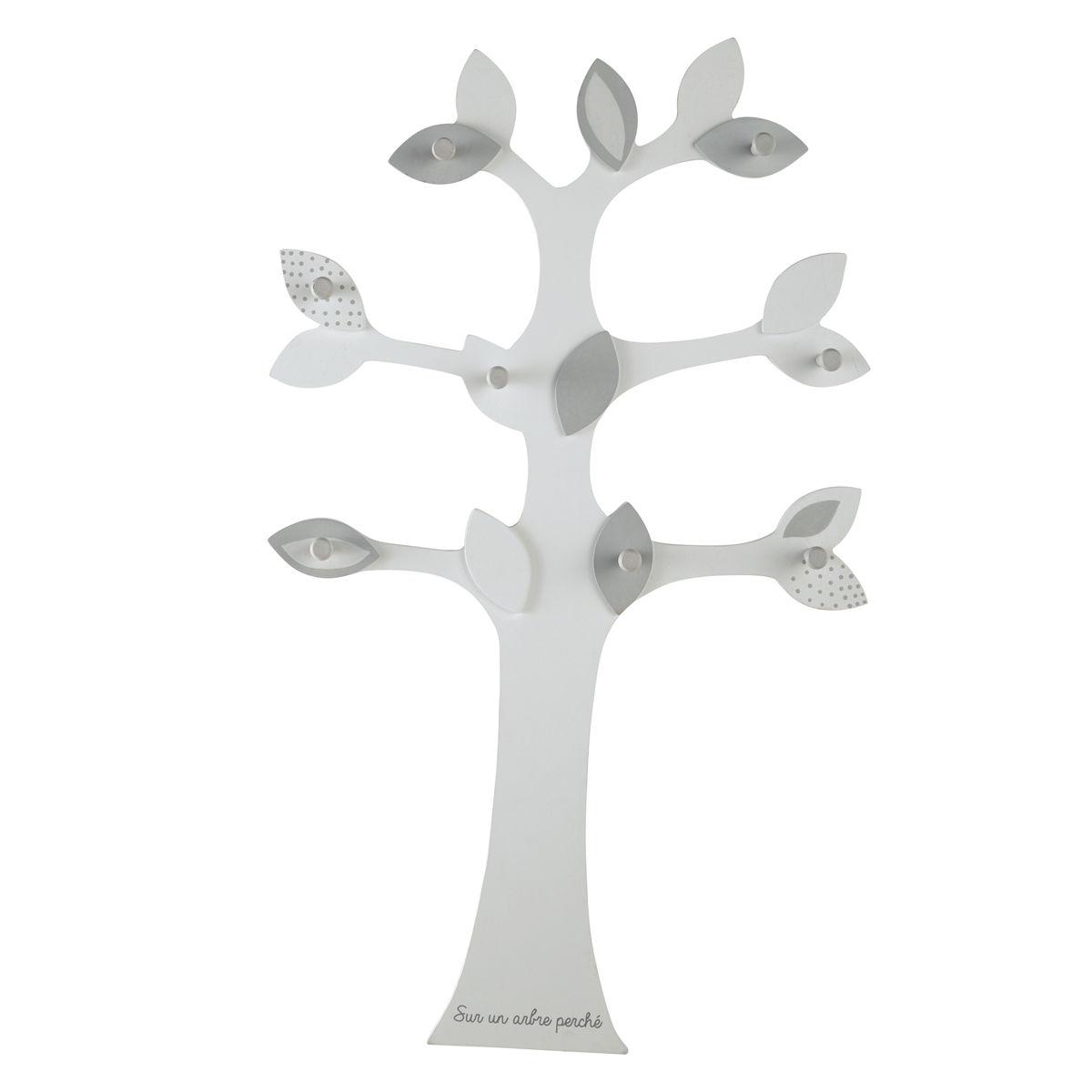 Attaccapanni grigio a 8 ganci a forma di albero H 80 cm Songe ...