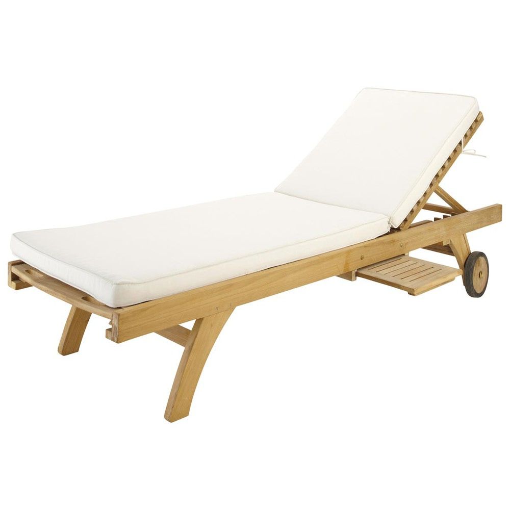 auflage f r sonnenliege aus stoff l 196 cm ecru sunny. Black Bedroom Furniture Sets. Home Design Ideas