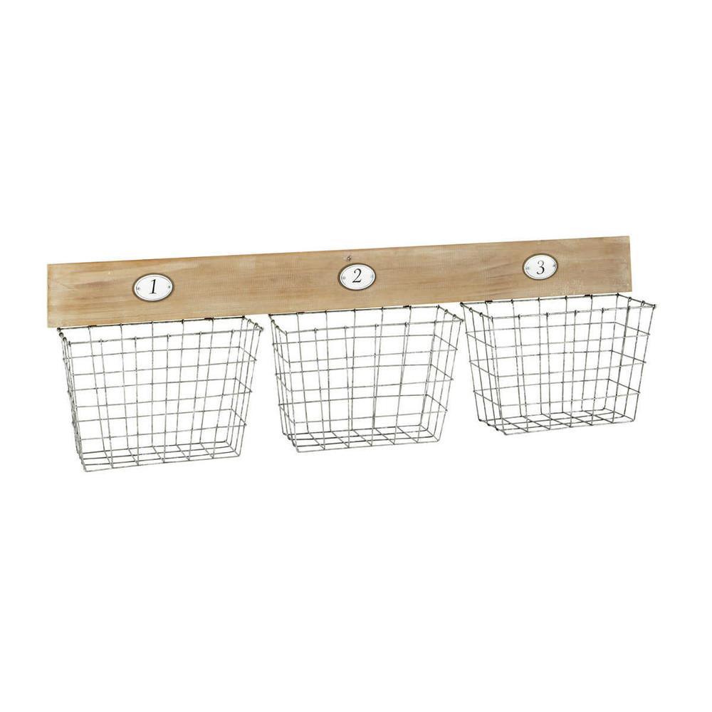 augustine wall mount storage baskets maisons du monde. Black Bedroom Furniture Sets. Home Design Ideas