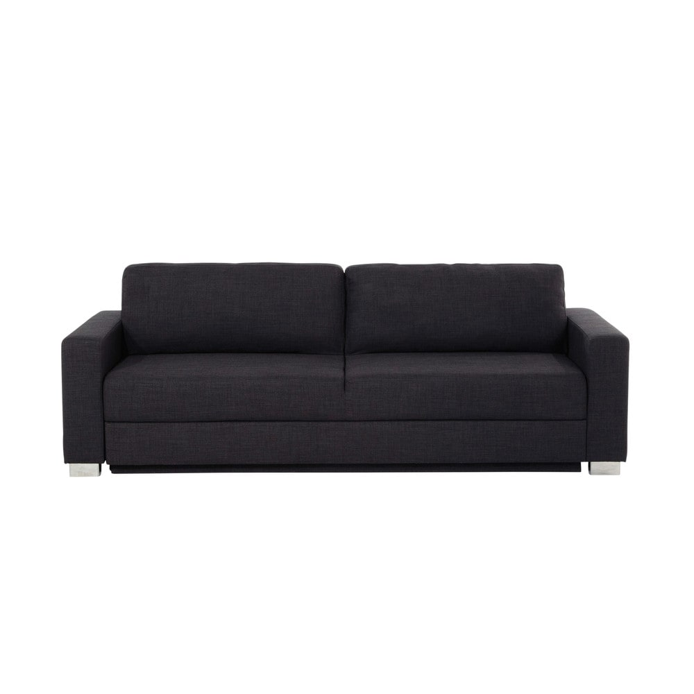 ausziehbares 3 sitzer sofa aus stoff anthrazit urban maisons du monde. Black Bedroom Furniture Sets. Home Design Ideas