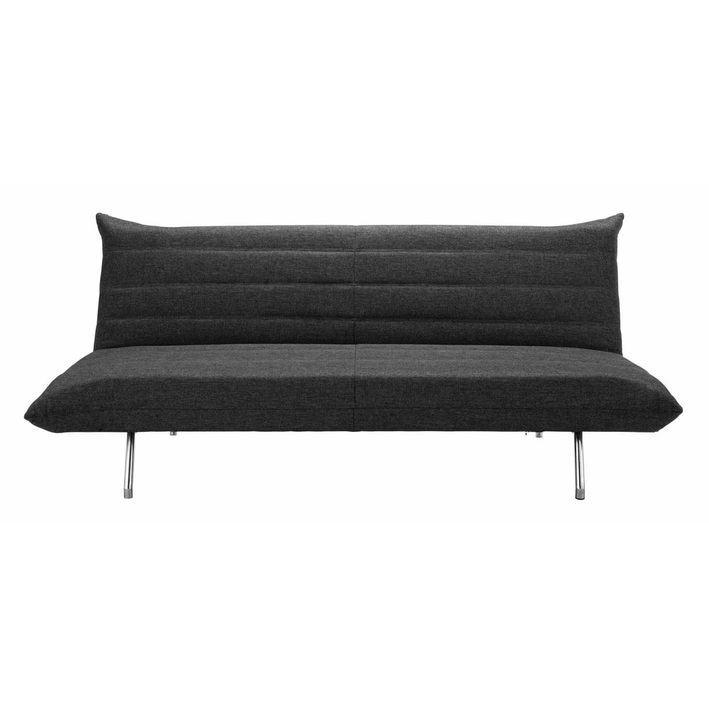 ausziehbares 3 sitzer sofa grau meliert fusion maisons du monde. Black Bedroom Furniture Sets. Home Design Ideas