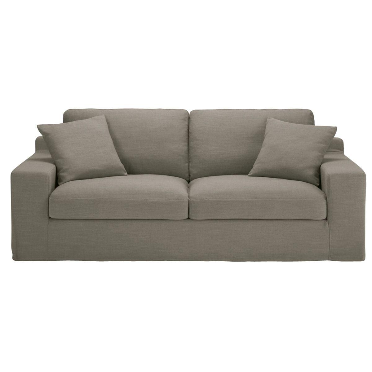 Ausziehbares 3 Sitzer Sofa Hellgrau Stuart Maisons Du Monde