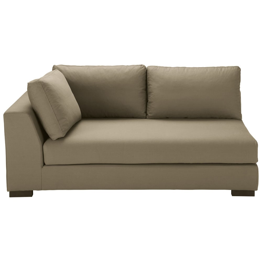 Ausziehbares modulares sofa mit linker armlehne aus for Sofas modulares