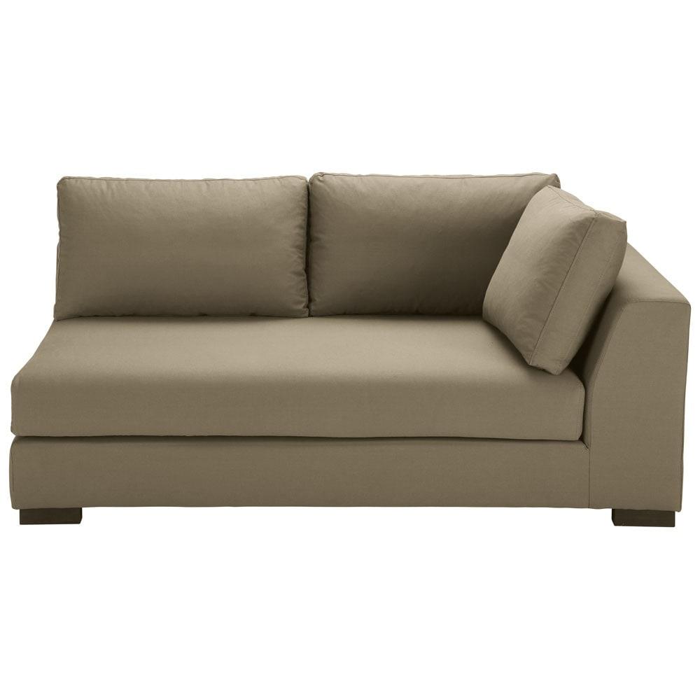 Ausziehbares Modulares Sofa Mit Rechter Armlehne Aus Baumwolle Taupe Terence Maisons Du Monde