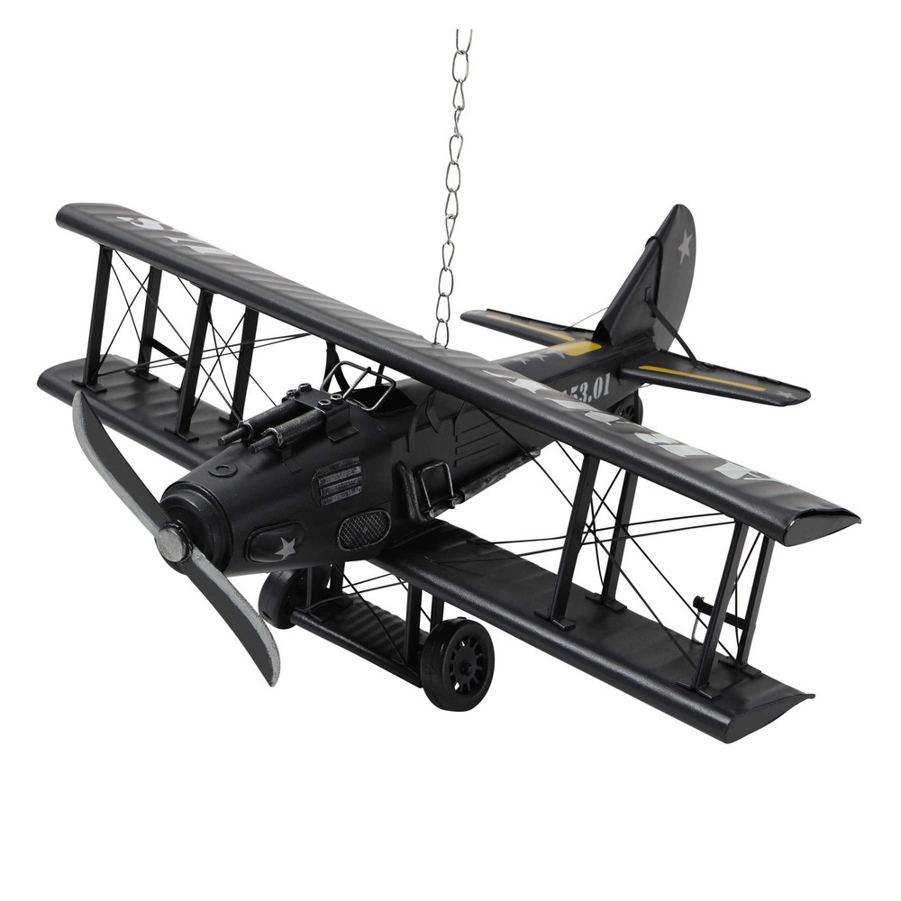 Avion d co en m tal 18 x 42 cm army maisons du monde for Decoration en metal