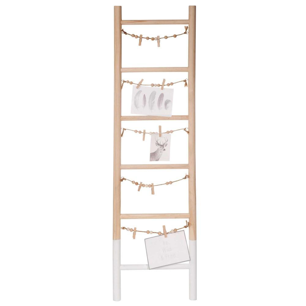 Bacheca foto scala in legno 26 x 90 cm graphic maisons - Immagini scale in legno ...