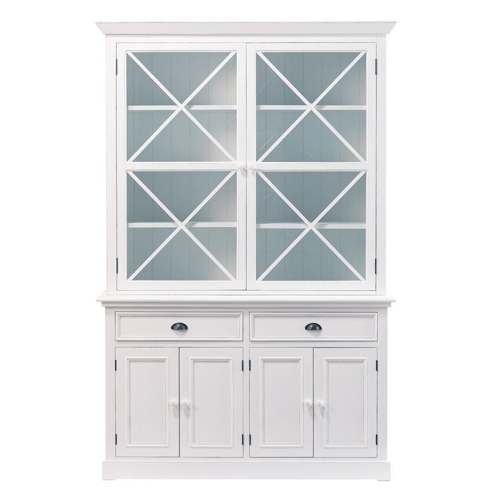 bahut en pin blanc l 145 cm newport maisons du monde. Black Bedroom Furniture Sets. Home Design Ideas