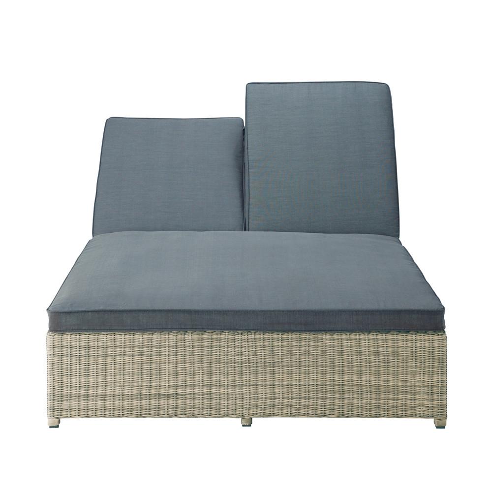 bain de soleil double en r sine tress e l 207 cm st rapha l maisons du monde. Black Bedroom Furniture Sets. Home Design Ideas