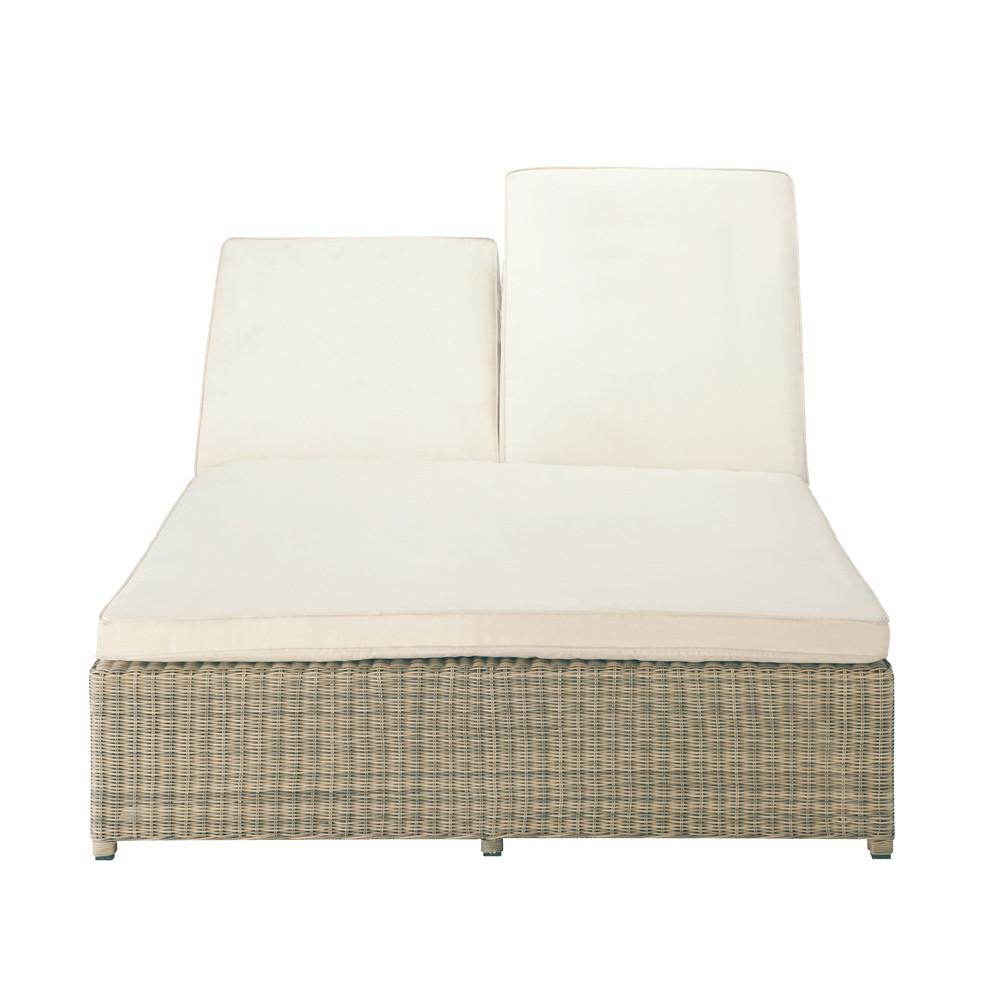 bain de soleil double en r sine tress e l 207 cm st. Black Bedroom Furniture Sets. Home Design Ideas