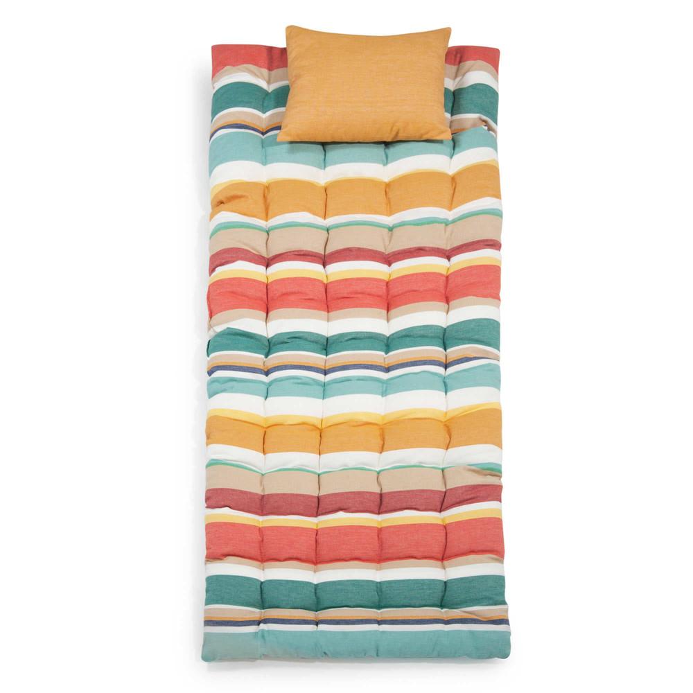 Bain de soleil en coton rayures multicolores - Maison du monde bain de soleil ...