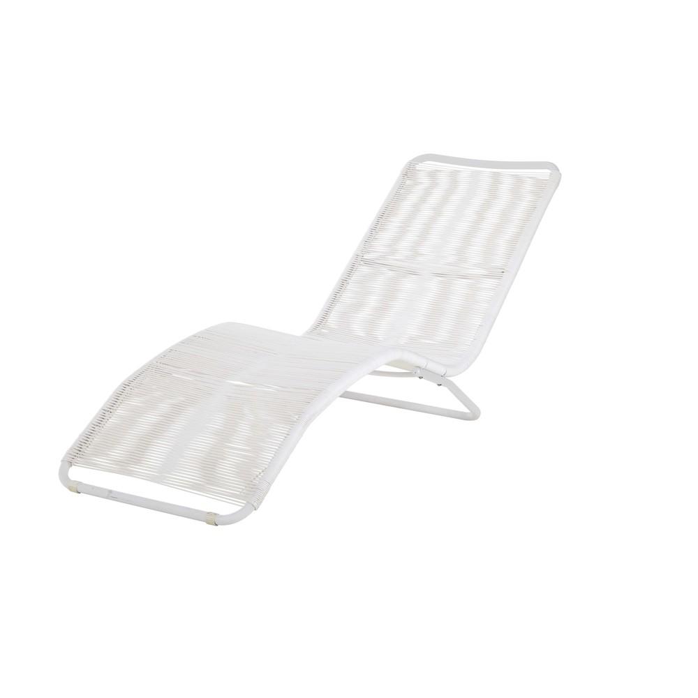 bain de soleil en m tal et fil de r sine blanc copacabana. Black Bedroom Furniture Sets. Home Design Ideas