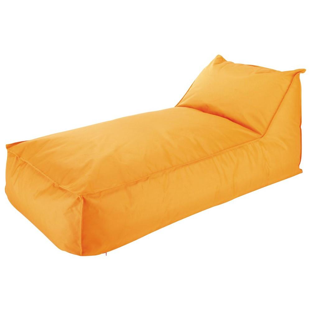 bain de soleil pouf billes orange papagayo maisons du. Black Bedroom Furniture Sets. Home Design Ideas