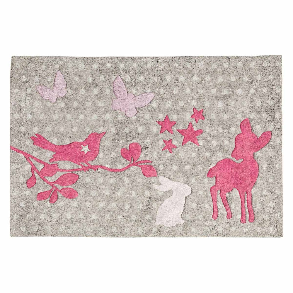 Bambi cotton polka dot rug in grey 80 x 120cm maisons du - Tapis zebre maison du monde ...