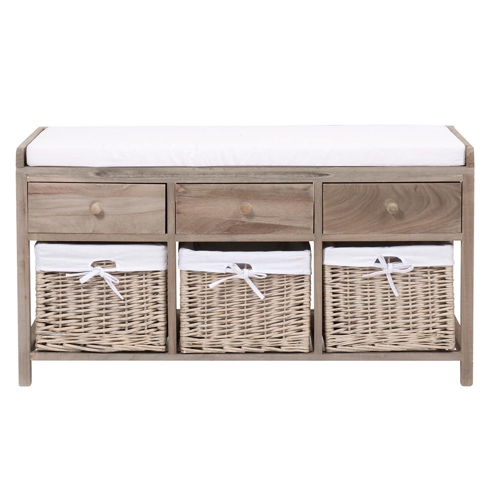 Accueil › décoration › Bancs › Banc de rangement en bois et ...