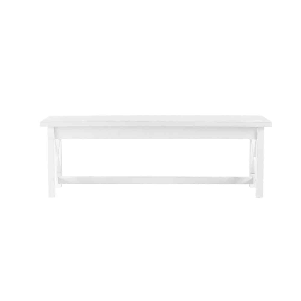 banc de table bois blanc newport maisons du monde. Black Bedroom Furniture Sets. Home Design Ideas
