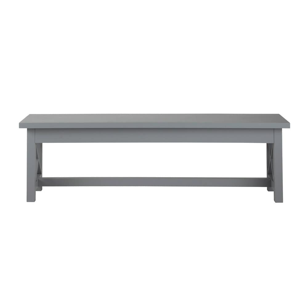 banc de table bois gris newport maisons du monde. Black Bedroom Furniture Sets. Home Design Ideas