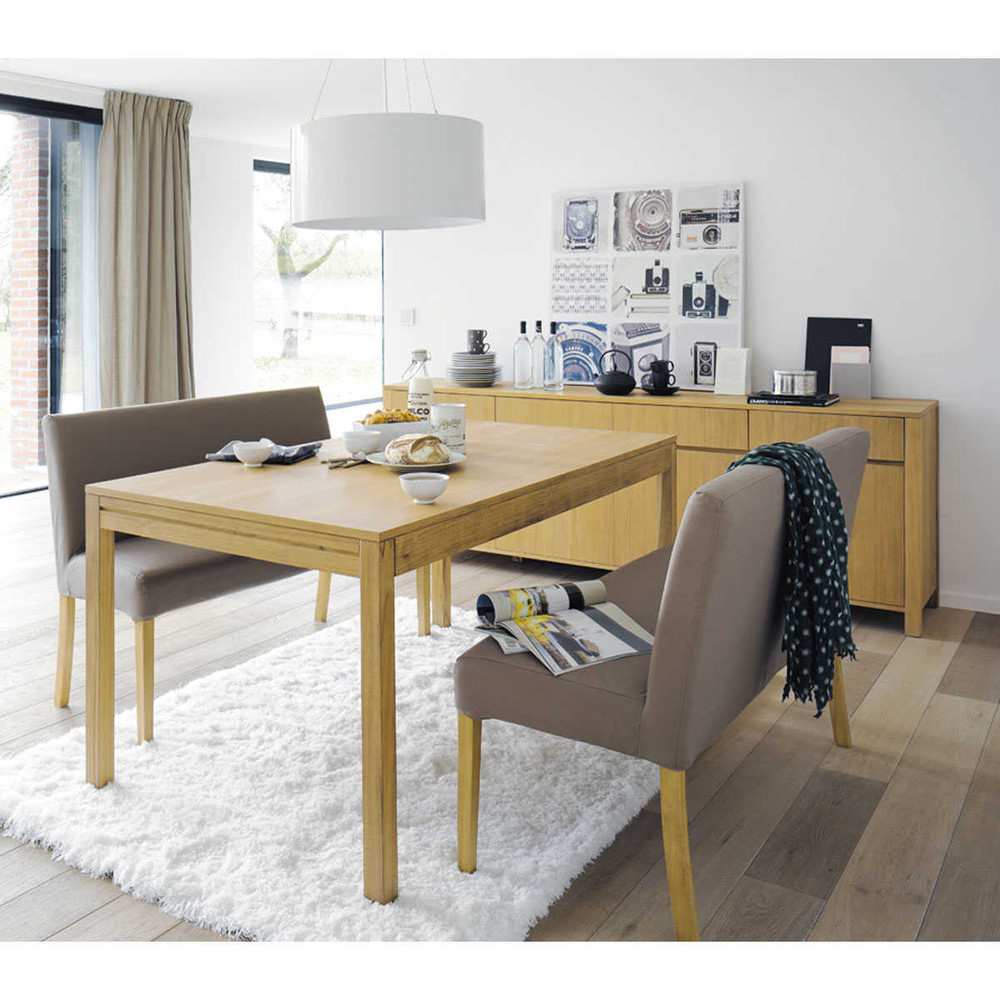 Bank voor tafel in taupe katoenen lounge lounge maisons du monde - Deco gezellige lounge ...