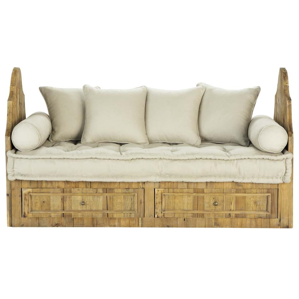 banquette 2 3 places dordogne maisons du monde. Black Bedroom Furniture Sets. Home Design Ideas