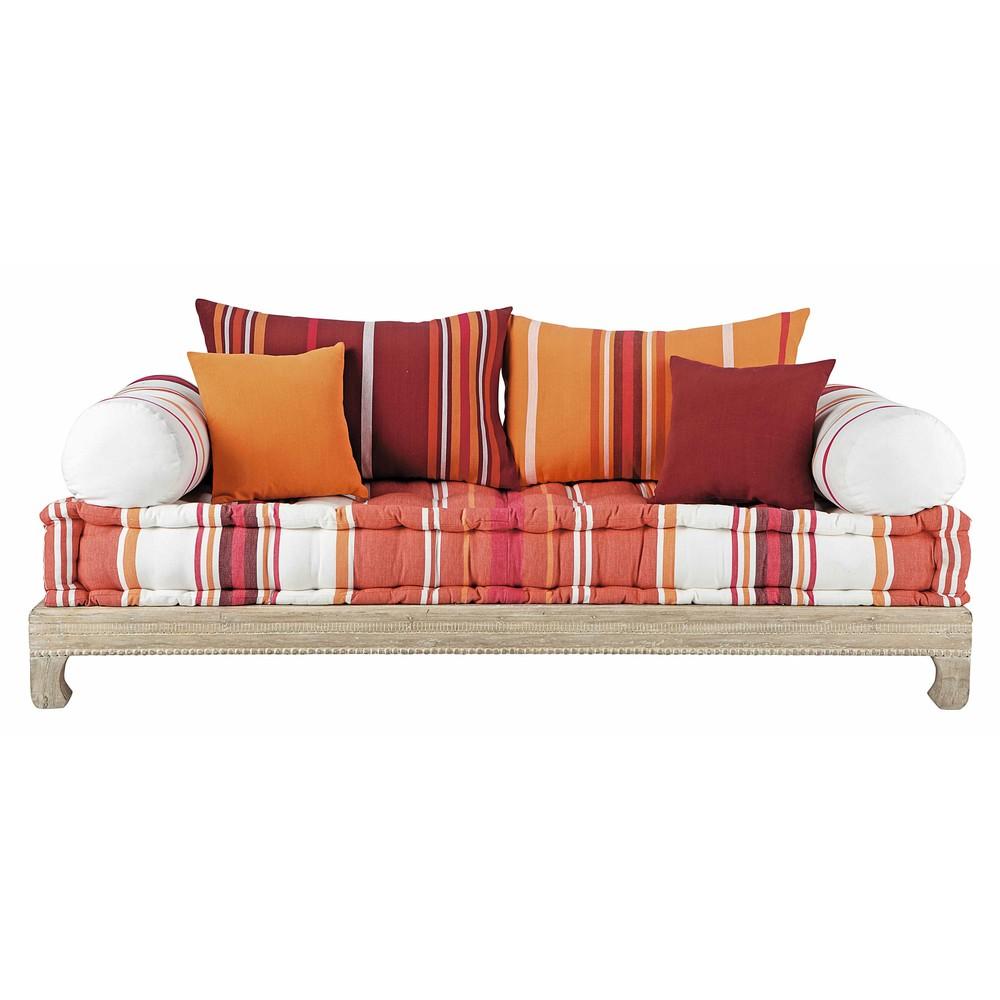 banquette 2 places en coton multicolore boheme maisons. Black Bedroom Furniture Sets. Home Design Ideas