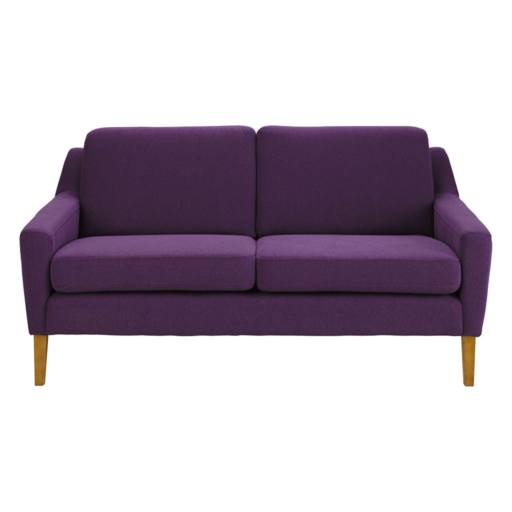 banquette 2 places en tissu violet mad men maisons du monde. Black Bedroom Furniture Sets. Home Design Ideas