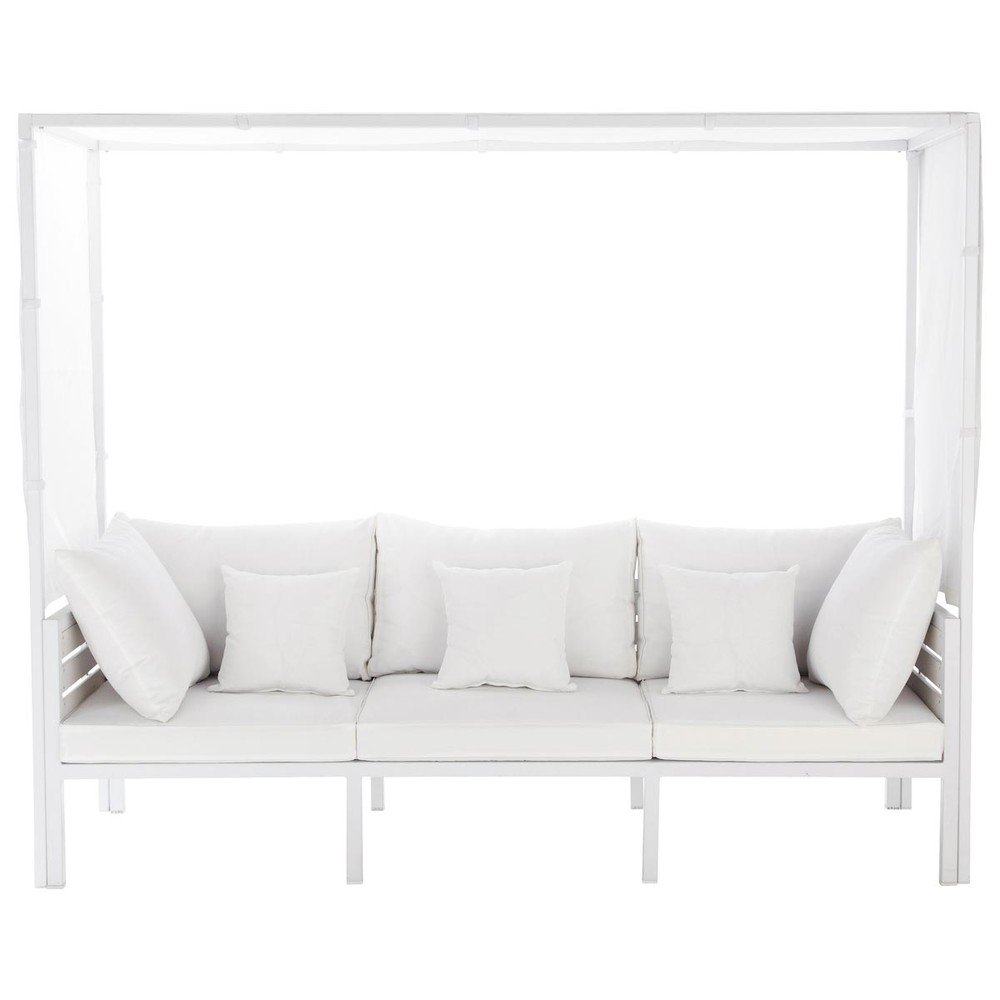 banquette baldaquin d 39 ext rieur blanche ithaque maisons du monde. Black Bedroom Furniture Sets. Home Design Ideas