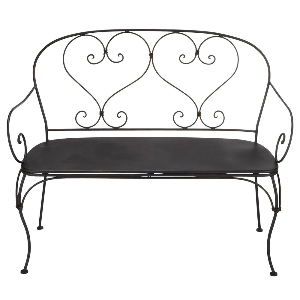 banquette de jardin 2 places en fer forg brun fonc st germain maisons du monde. Black Bedroom Furniture Sets. Home Design Ideas