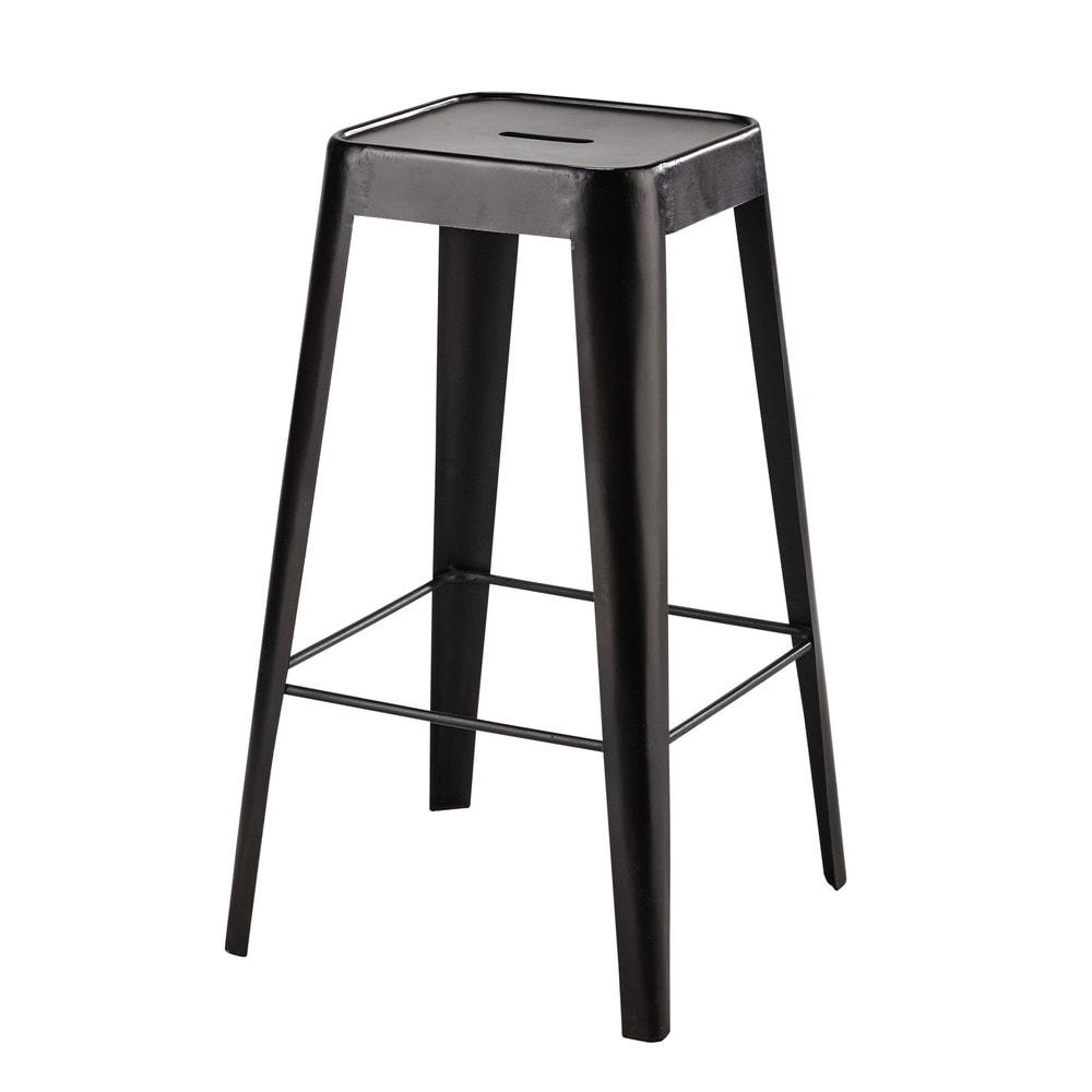 barhocker aus metall schwarz tom maisons du monde. Black Bedroom Furniture Sets. Home Design Ideas