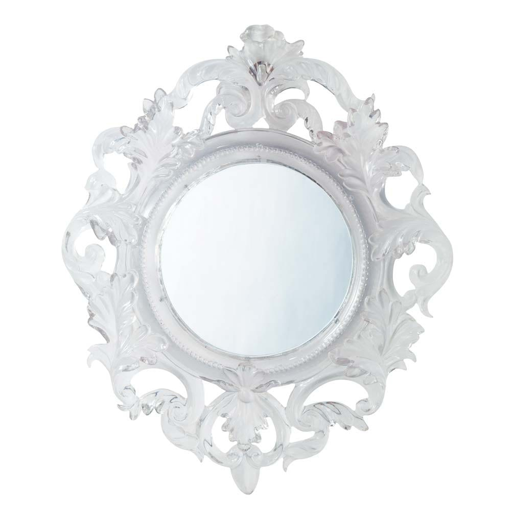 Baroque translucent mirror maisons du monde for Plastic baroque mirror