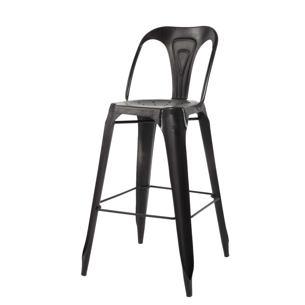 barstuhl im industrial stil aus metall schwarz multipl 39 s. Black Bedroom Furniture Sets. Home Design Ideas