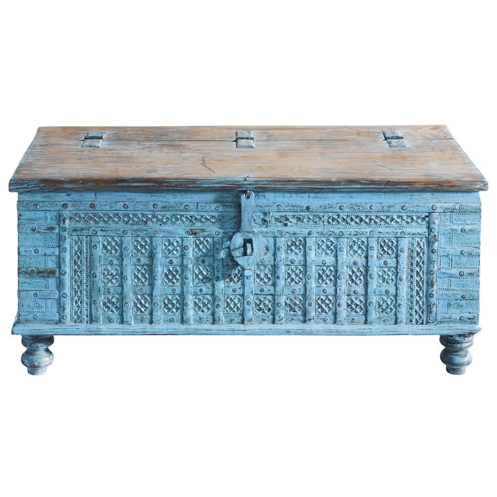 Ba l indio de mango macizo azul an 125 cm maharani maisons du monde - Le monde muebles ...