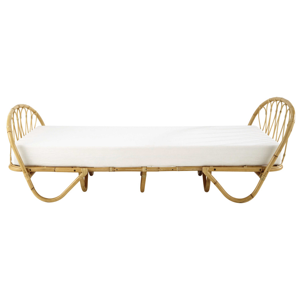 bedbank 90 x 190 cm in rotan suzane maisons du monde. Black Bedroom Furniture Sets. Home Design Ideas