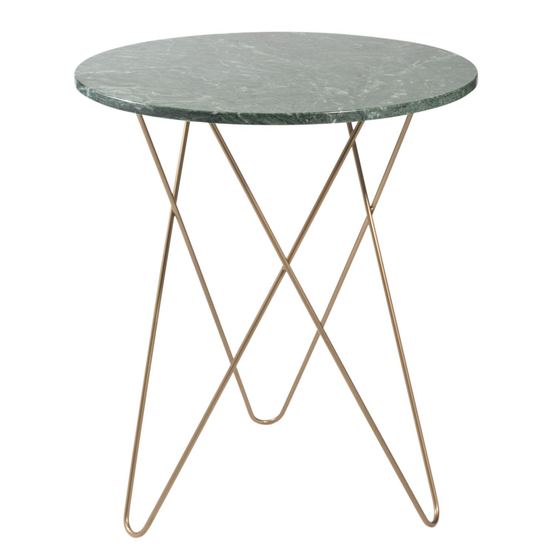 Schön Beistelltisch Metall Dekoration Von Aus Grünem Marmor Und Goldfarbenem Odysee |