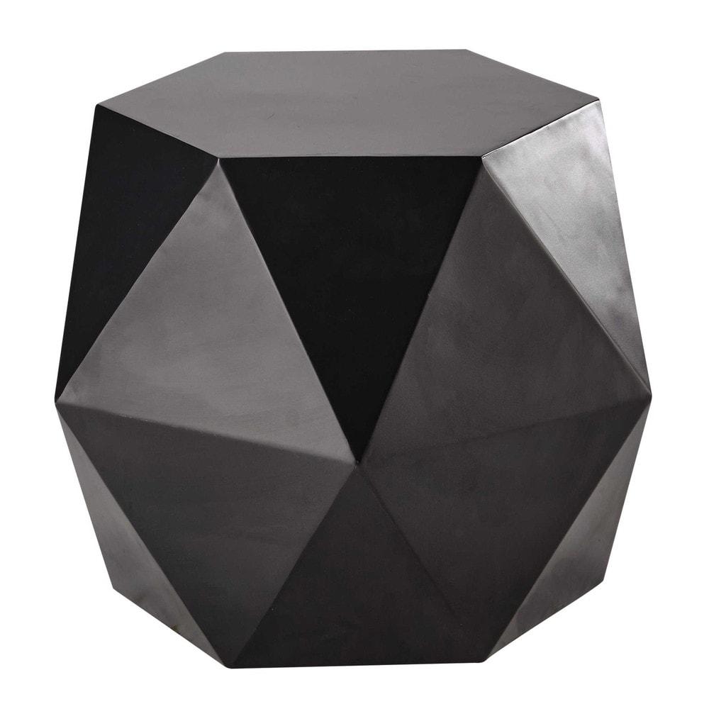 beistelltisch aus metall b 58 cm schwarz hexago maisons du monde. Black Bedroom Furniture Sets. Home Design Ideas