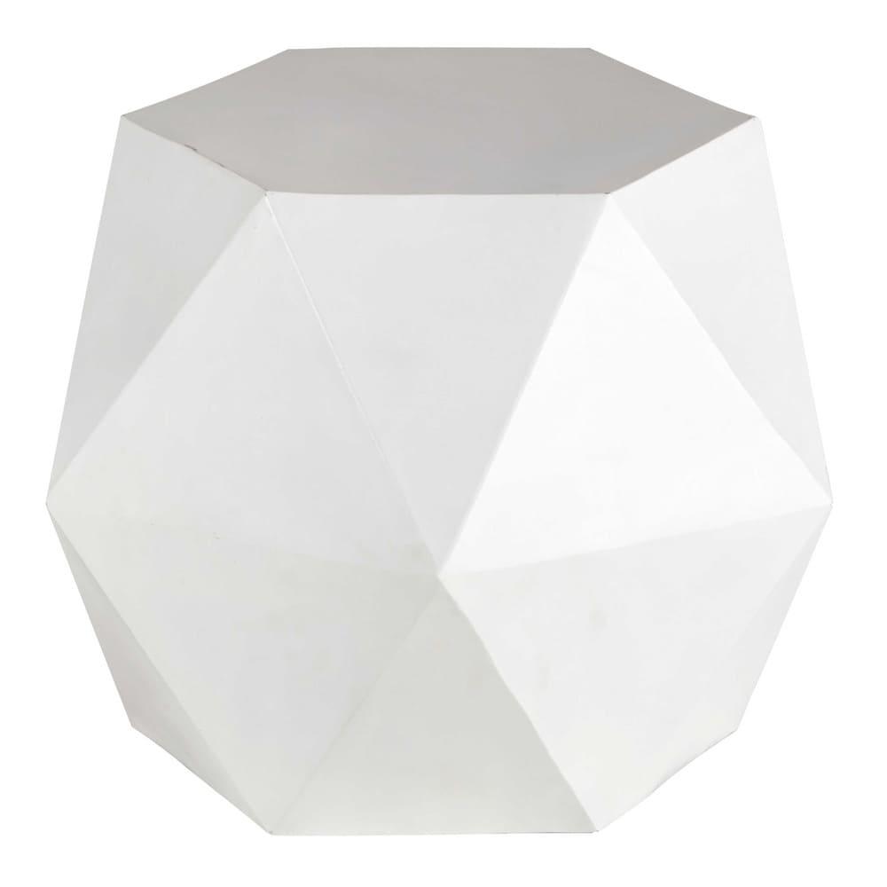 beistelltisch aus metall b 58 cm wei hexago maisons du monde. Black Bedroom Furniture Sets. Home Design Ideas