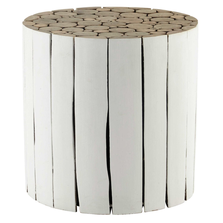 Einzigartig Beistelltisch Weiß Holz Sammlung Von