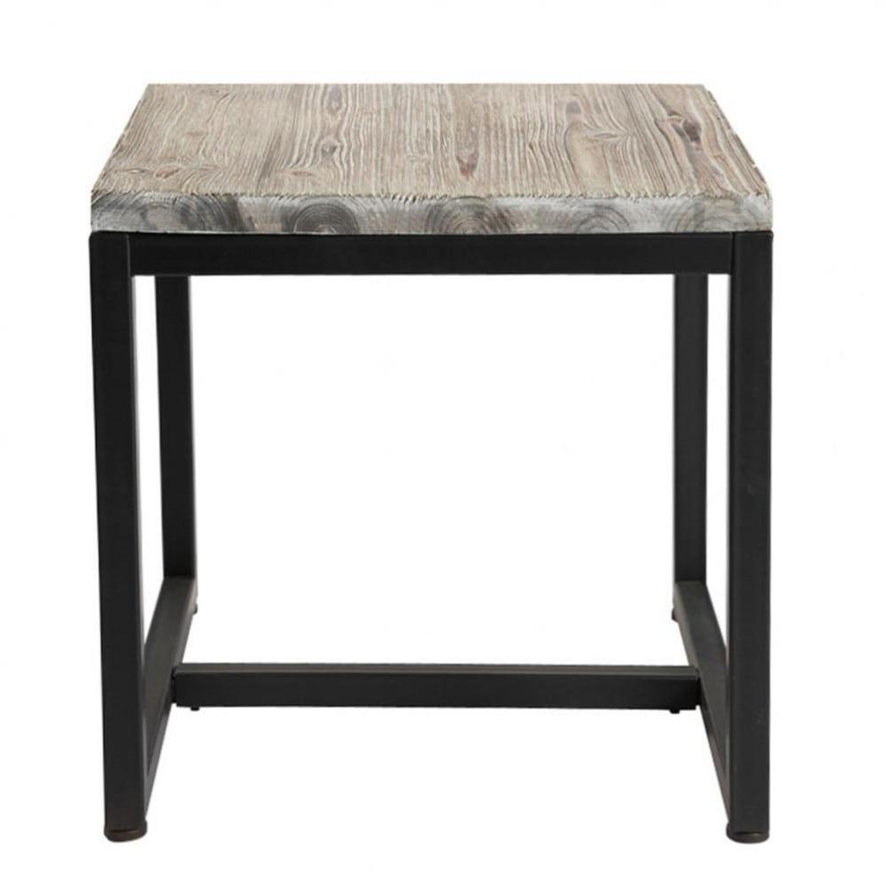 beistelltisch im industrial stil aus massivem tannenholz. Black Bedroom Furniture Sets. Home Design Ideas