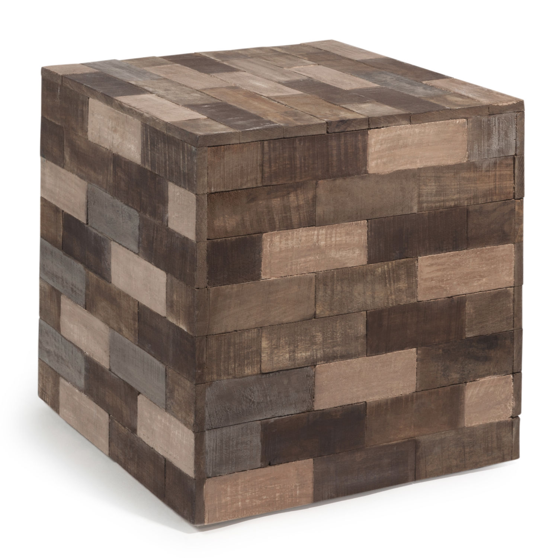 Beistelltisch In Wurfelform Aus Holz B 41 Cm Bunt Praja Maisons