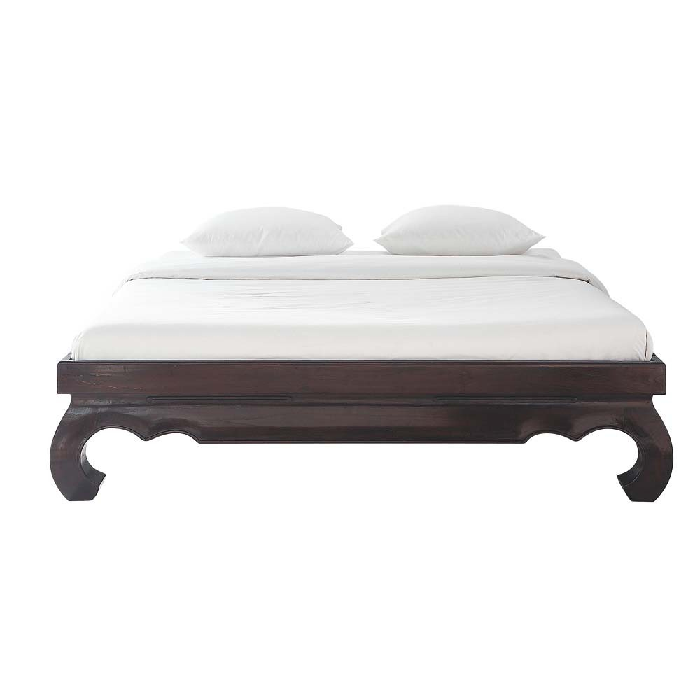 bett aus massivem teakholz 160 x 200 cm opium opium. Black Bedroom Furniture Sets. Home Design Ideas
