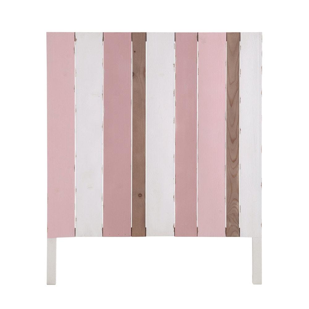 bett kopfteil aus holz f r kinderbetten b 90 cm rosa wei violette violette maisons du monde. Black Bedroom Furniture Sets. Home Design Ideas