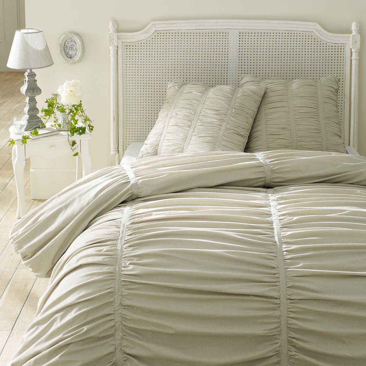 Bettwäschegarnitur beige 240x220: 1 Bettbezug + 2 Kopfkissenbezüge ...