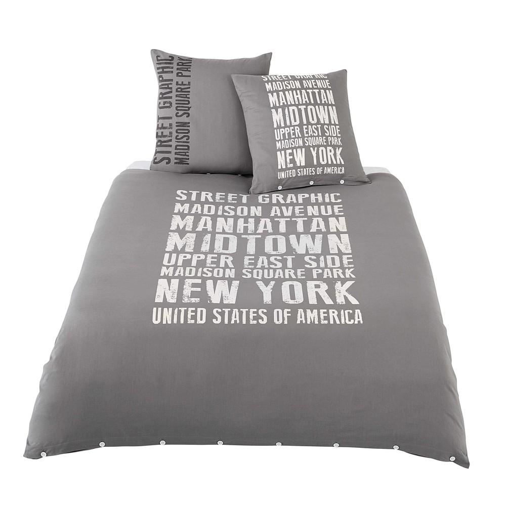 bettw schegarnitur street graphic aus baumwolle 240 x 220. Black Bedroom Furniture Sets. Home Design Ideas