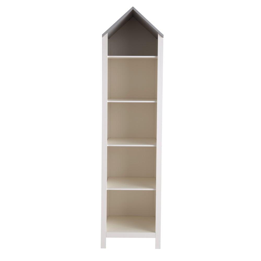 Biblioteca casa infantil de madera blanca an 45 cm songe - Biblioteca madera blanca ...