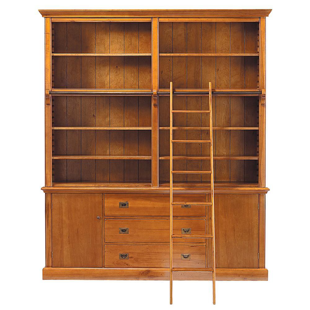biblioteca con escalera de madera maciza an 193 cm voyage maisons du monde. Black Bedroom Furniture Sets. Home Design Ideas