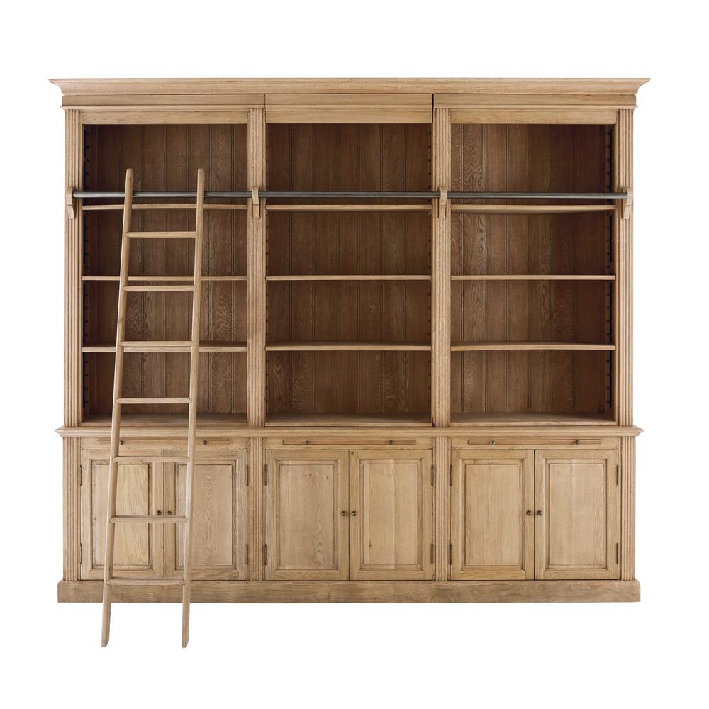 biblioth que 3 corps en ch ne vieilli colbert maisons du. Black Bedroom Furniture Sets. Home Design Ideas