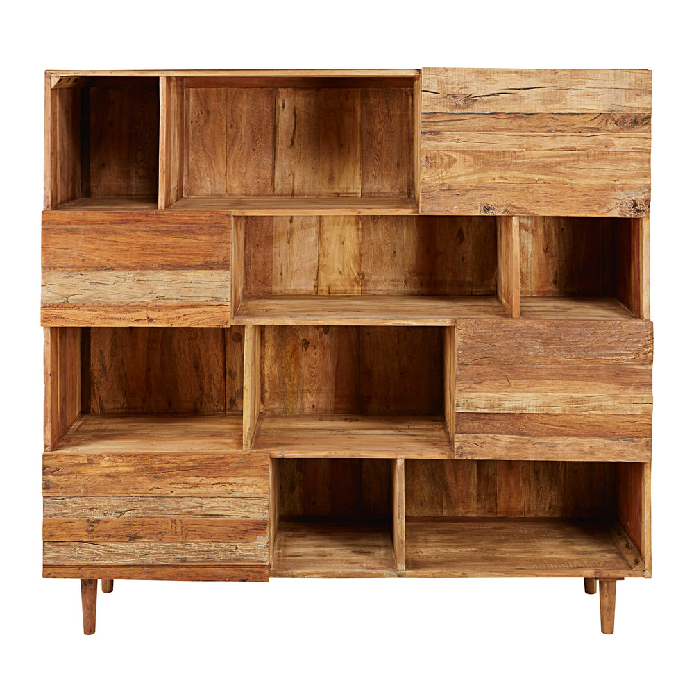 biblioth que 4 portes en bois recycl s tennessee maisons du monde. Black Bedroom Furniture Sets. Home Design Ideas