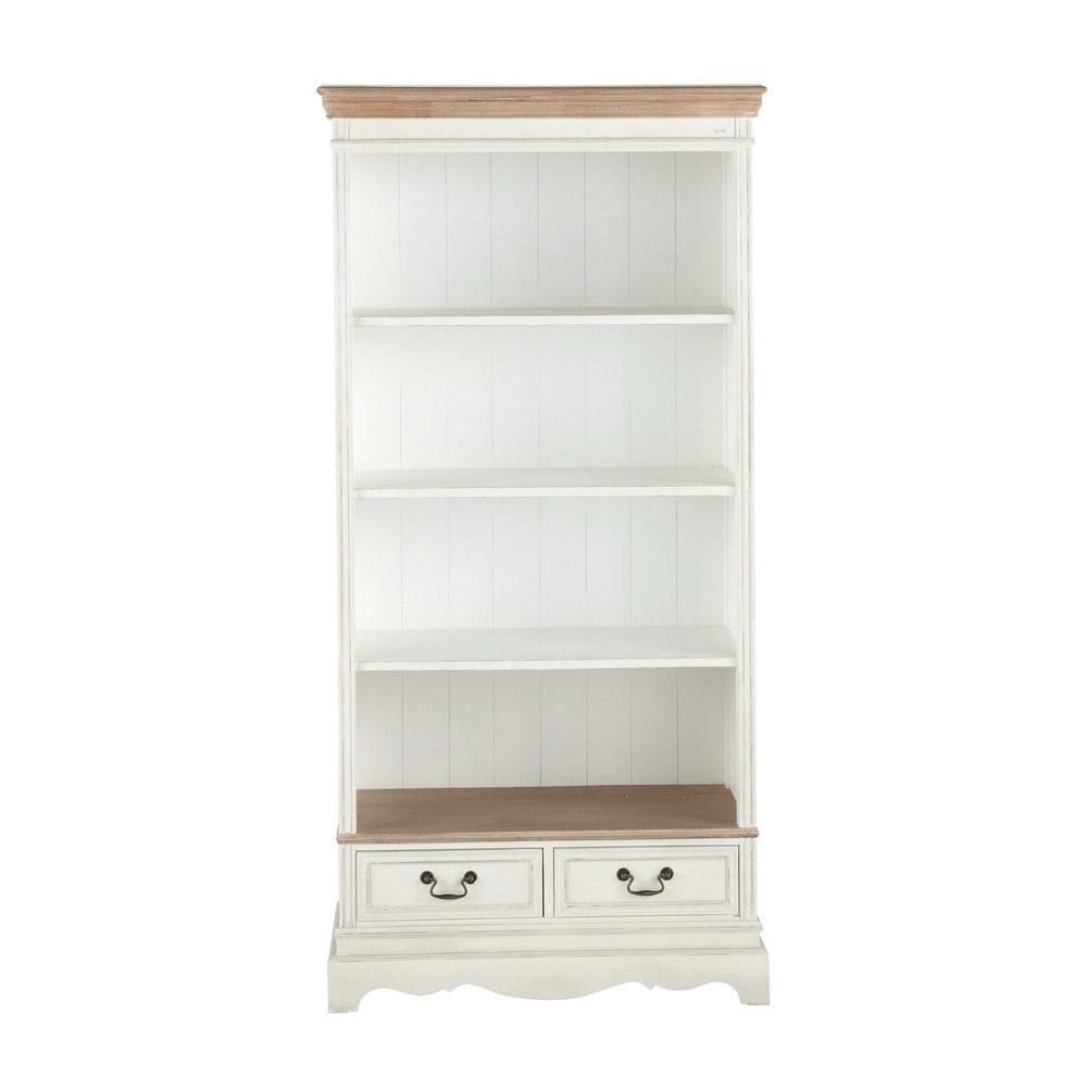 biblioth que en bois cr me l 90 cm l ontine maisons du monde. Black Bedroom Furniture Sets. Home Design Ideas