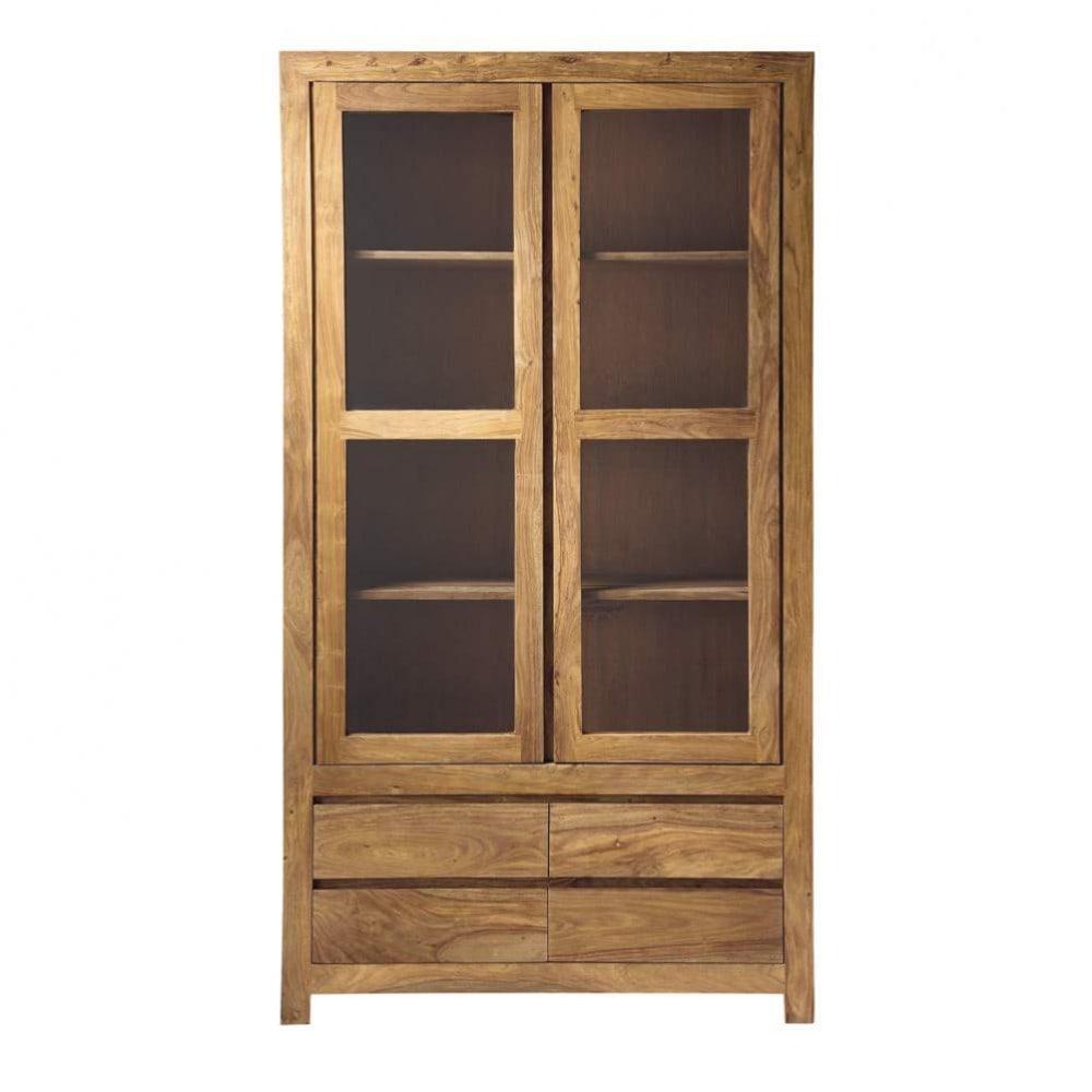 Biblioth que en bois de sheesham massif l 110 cm stockholm maisons du monde - Bibliotheque bois exotique ...